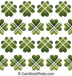 mønster, seamless, dag, helgen, tartan, patrick's