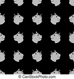 mønster, seamless, dyr, kat