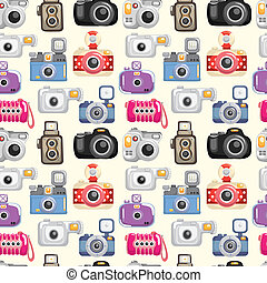 mønster, seamless, kamera