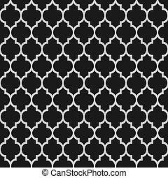mønster, sort, seamless, islamiske, hvid