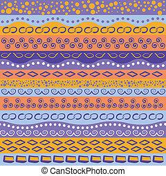mønster, stribe, farverig