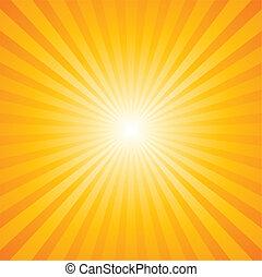 mønster, sunburst
