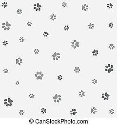 mønster, tapet, seamless, dyr
