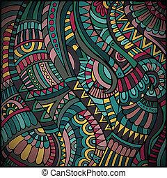 mønster, vektor, etniske