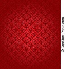 mønster, (wallpaper), seamless, rød