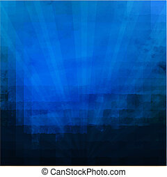 mørk blå, sunburst, tekstur