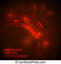 mørke, tekniske, abstrakt, rød baggrund