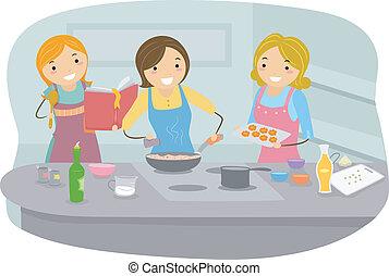 madlavning, kvinder