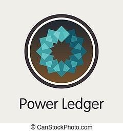 magt, powr, penge, -, emblem., ledger., eller, marked, ikon