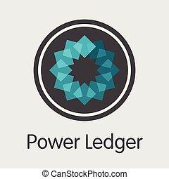 magt, powr, penge, -, emblem., ledger., logo, eller, marked