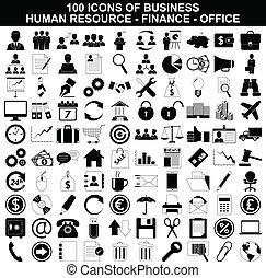 magtmiddel, sæt, finans, ikoner kontor, firma, menneske