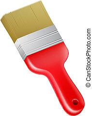 maling, cartoon, børste