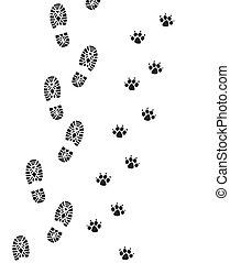 mand, fod, hund, printer