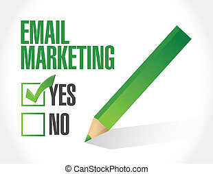 markedsføring, konstruktion, email, illustration, nej