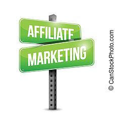 markedsføring, konstruktion, illustration, affiliate, tegn