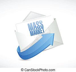 markedsføring, konstruktion, mængde, illustration, email