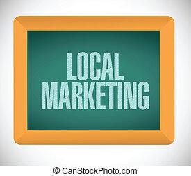 markedsføring, tegn, konstruktion, illustration, lokale