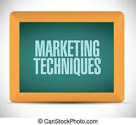 markedsføring, teknikbe, konstruktion, illustration, tegn