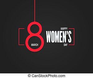 marts, banner., baggrund, 8, womens, dag, 8