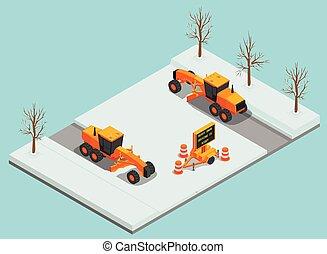maskiner, komposition, afsked, sne