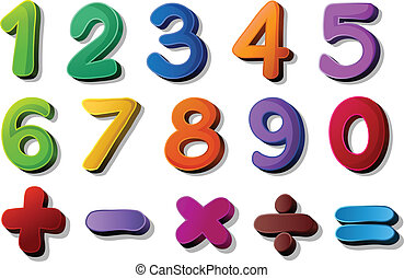 matematikker, symboler, antal