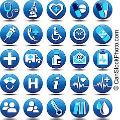 matt, omsorg, sundhed, iconerne