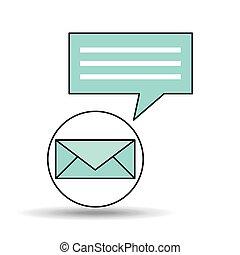 meddelelse, begreb, konstruktion, email, snakke