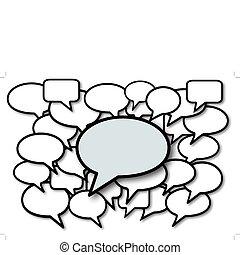 medier, bobler, tale, samtalen, sociale