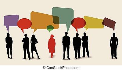 medier, bobler, tale, sociale