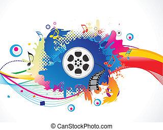 medier, farverig, eksplodere, abstrakt