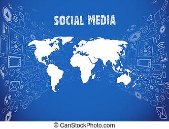 medier, illustration, sociale