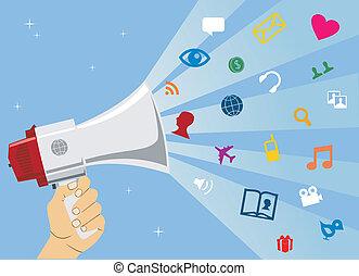 medier, kommunikation, sociale