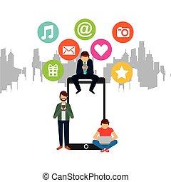 medier, konstruktion, sociale