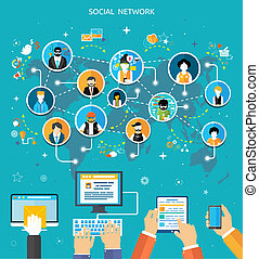 medier, sammenhænge, begreb, netværk, sociale