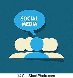 medier, tale boble, sociale
