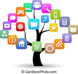 medier, træ, sociale