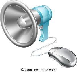 megafon, begreb, mus