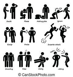 menneske, handling, mand, emotion