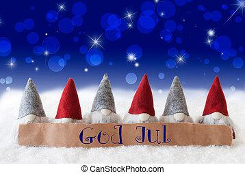 merry, bokeh, betyder, gud, stjerner, jul, jul, gnomer, blå