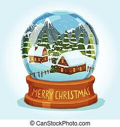 merry, klode, sne, card, jul