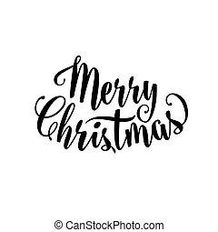 merry, vektor, tekst, tegn, jul, illustration, tekstning