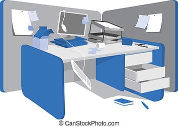 messy, arbejdsstationen