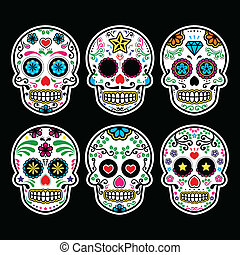 mexikansk, kranium, sukker