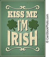 mig, irsk, st.., patrick's, kys, jeg er, dag
