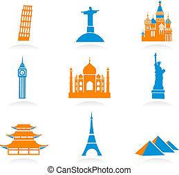 milepæl, internationale, iconerne