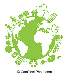 miljø, grønne, rense