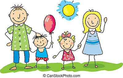 min, familie, glade