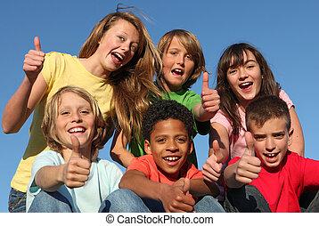 miscellaneous, gruppe, væddeløb, børn