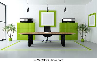moderne, grønne, kontor