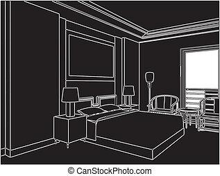 moderne, soveværelse